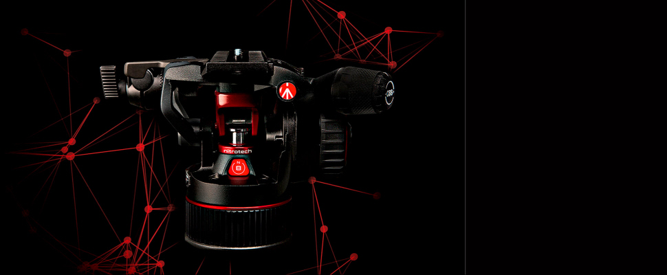 Manfrotto MVHN8AH Nitrotech N8 Fluid-Video-Kopf